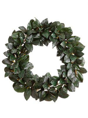 """36"""" Magnolia Leaf Wreath Green"""