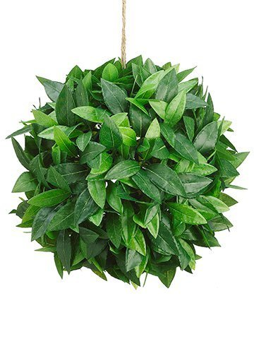 "12"" Laurel Leaf Ball Green"