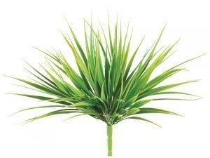 "12"" Vanilla Grass Bush with98 LeavesTwo Tone Green"