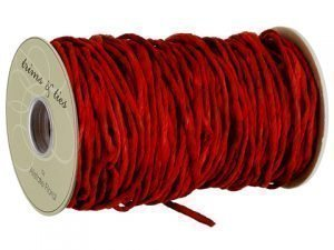 "3""W x 32yd Paper Rope Red"