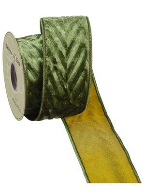 "2.5""W x 5yd Velvet Ribbon Green"