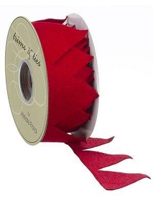 """2.5""""W x 10yd Felt Ribbon Red"""