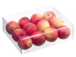 "5.5""W x 7.5""L Apple (12 ea/box) Red"