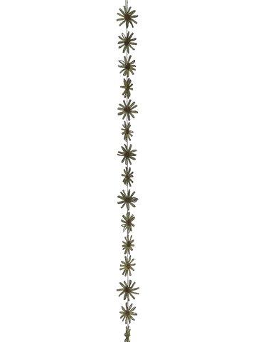 5' Paper Flower Garland Green