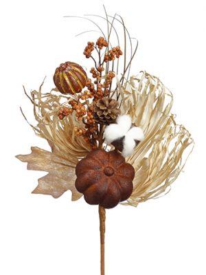 """14"""" Pumpkin/Berry/PineCone/Grass PickToffee Brown"""
