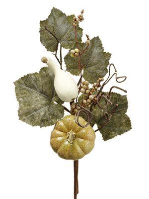 "18"" Pumpkin/Gourd/Grape LeafPickGreen Cream"