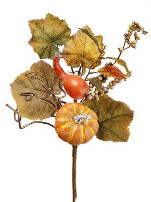 "18"" Pumpkin/Gourd/Berry/GrapeLeaf PickOrange Green"