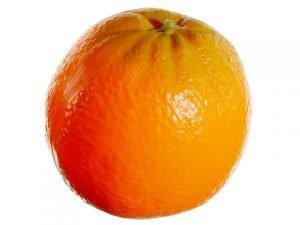 """3.25"""" Plastic Orange Orange"""