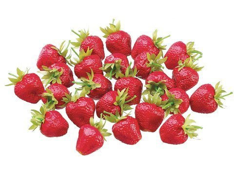 "1.5""x1.5"" Medium PVC Strawberry (24 ea/bag)"