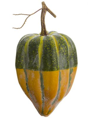 "9""H x 4.5""D Weighted Gourd Green Yellow"