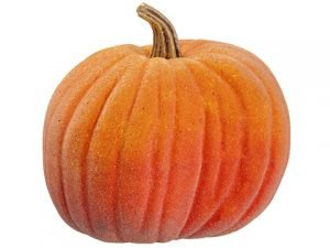 "12""H x 12.5""D Beaded Weighted Pumpkin Orange"