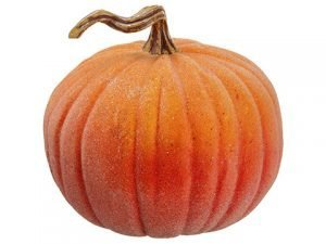 "11""H x 12""D Beaded Weighted Pumpkin Orange"