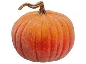 """11""""H x 12""""D Beaded WeightedPumpkinOrange"""