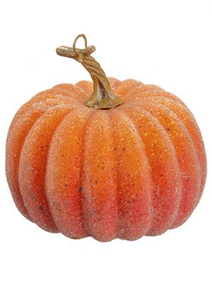 "6""H x 6""D Beaded Weighted Pumpkin Orange"
