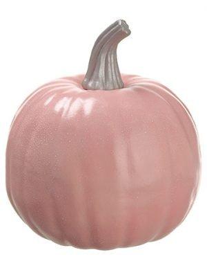 """10""""H x 9""""D Weighted Pumpkin Pink"""