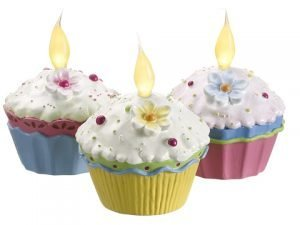"4""H x 3""W x 9""L Assorted Cupcakes with Light (3 ea/box) Mixed"