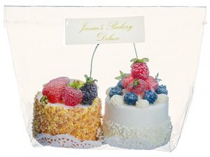 "3.5"" Fruit Cake Assortment (2 ea/bag) White Cream"