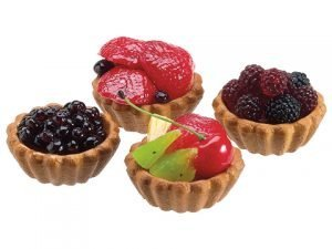 "3""W x 11.5""L Berry Assorted Fruit Tarts (4 ea/box) Blue Red"