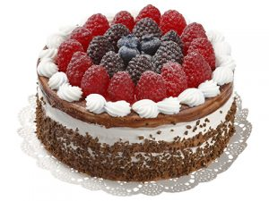 "4.75""H x 6""D Soft Touch Mixed Berry Cake Mix"