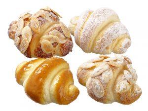 "3"" Mini Croissant (4 ea/bag) Two Tone Brown"