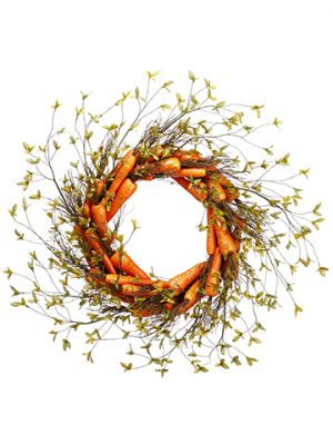 "30"" Carrot Wreath Orange"
