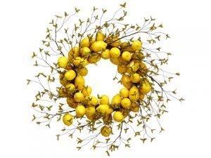 """32"""" Lemon Wreath Yellow"""