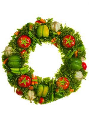 "17"" Vegetable Wreath Mixed"