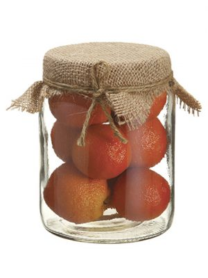 "5.75"" Orange in Glass Jar Orange"