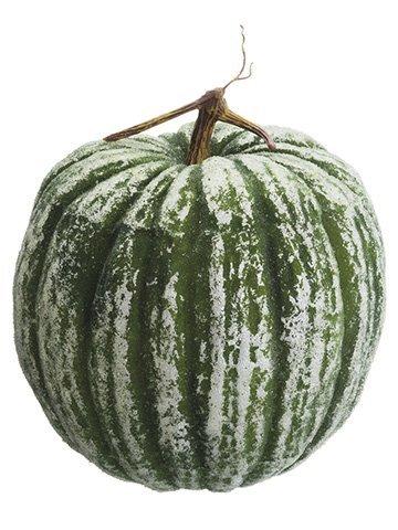 """12.5""""H x 11""""D Beaded Pumpkin Green"""