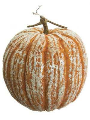 "12.5""H x 11""D Beaded Pumpkin Orange"