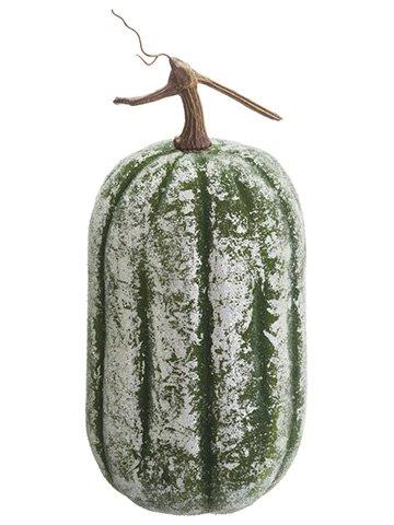 """14.5""""H x 6.5""""D Beaded Pumpkin Green"""