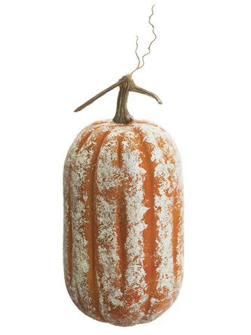 "14.5""H x 6.5""D Beaded Pumpkin Orange"