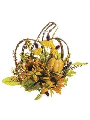 """15""""W x 16""""L Pumpkin/Sunflower/Berry Wall DecorButterscotch Amber"""