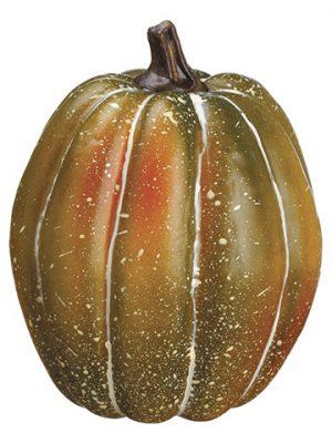 "4.5""H x 3.5""D Pumpkin Green Orange"