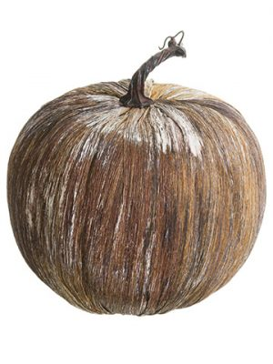 "10.5""H x 8.5""D Pumpkin Brown Whitewashed"