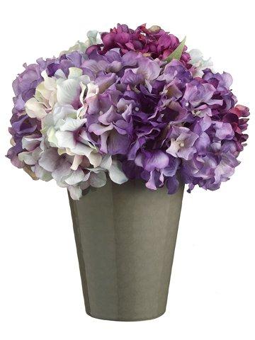 "11""H x 9""W x 9""L Hydrangea inCeramic PotPurple Lavender"