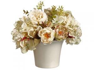 """9""""H x 9""""W x 9""""L Rose MixedBouquet in Ceramic PotBeige"""