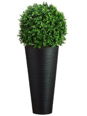 "44""H x 16""W x 16""L Boxwood Ball in Bamboo Container Green"