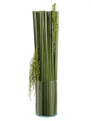 """40""""H x 14""""W x 14""""L Grass Berriesin Glass VaseGreen"""