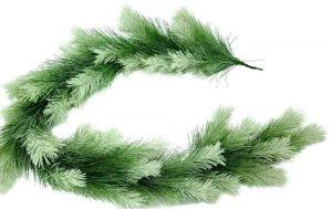 Frost Tip Bristle Pine Garland, 6'