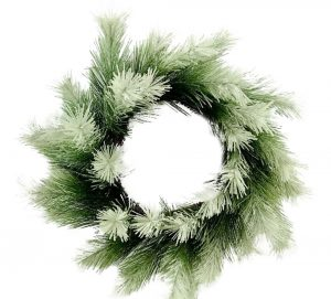 Frost Tip Bristle Pine Wreath, 24in