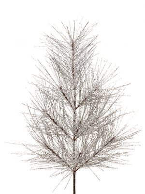 """33""""glittered Long Needle PineDoor SwagGlittered Silver"""