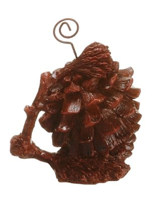"3"" Resin Pinecone Placecard Holder Rust"