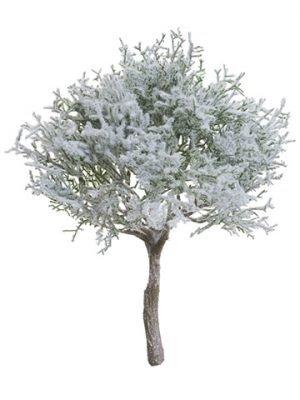 """10"""" Snowed Spanish Moss Bush Green White"""