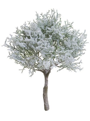"10"" Snowed Spanish Moss Bush Green White"