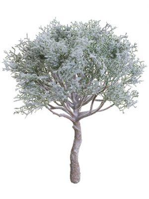 """15"""" Snowed Spanish Moss Bush Green White"""