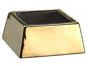 "3""H x 5""W x 5""L Ceramic Vase Gold"