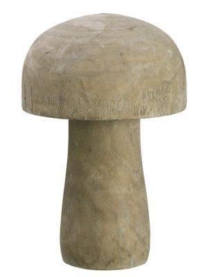 "11.4""H x 8.25""D Wood Mushroom Natural"