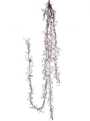 "65"" Beaded Snow Twig Garland Brown Snow"