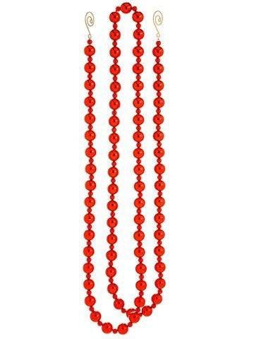 6' Bead Garland Red